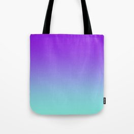 Purple Aqua Ombre Tote Bag