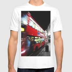 double decker Mens Fitted Tee White MEDIUM
