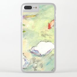 Small Koi Pond 28 Clear iPhone Case