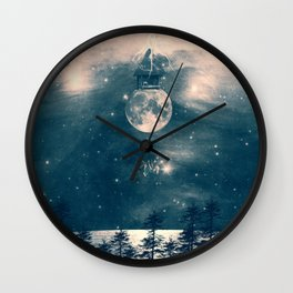 One Day I Fell from My Moon Cottage... Wall Clock