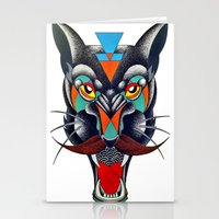 panther Stationery Cards featuring panther by Ronan Holdsworth