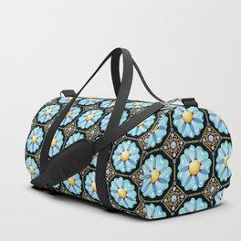 Blue Daisy Millefiori Duffle Bag