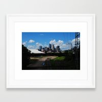 minneapolis Framed Art Prints featuring minneapolis by RAIKO IVAN雷虎