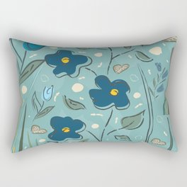 Flowers of the Magical Lake Rectangular Pillow
