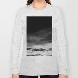 BLACK & WHITE TOUCHING #1 #abstract #decor #art #society6 Long Sleeve T-shirt