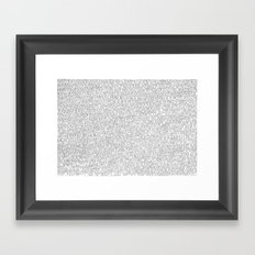 1000 imaginary friends and one bear Framed Art Print