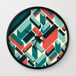 german synth stock music plaid Wall Clock