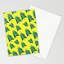 Leaves in Yellow Stationery Cards