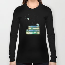 Alley Cats and the Blue Moon Long Sleeve T-shirt