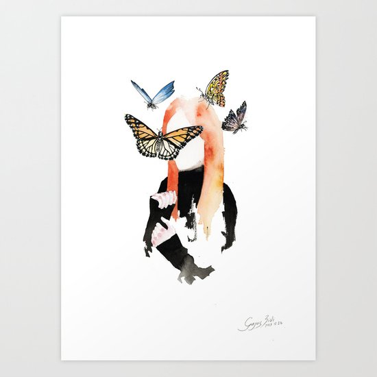 She is sensitive, but strong Art Print
