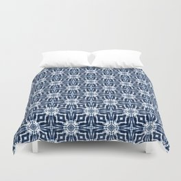 Watercolor Shibori Indigo Duvet Cover
