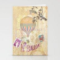 ballon Stationery Cards featuring Le Ballon by Hans Duenas