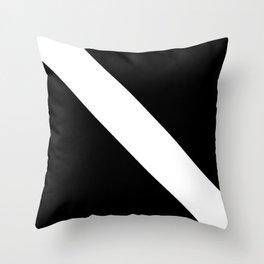 Oblique black and white 2 Throw Pillow