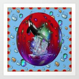 Orca ballena asesina Art Print