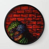 birdman Wall Clocks featuring Birdman by Thom Whalen