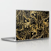 techno Laptop & iPad Skins featuring Techno Organic  by Leigh Wortley