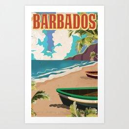 Barbados Travel Poster  Kunstdrucke