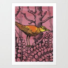 ORANGEBIRD Art Print