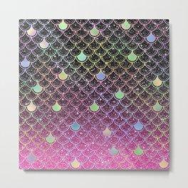Mermaid Scales Ombre Glitter #1 Metal Print