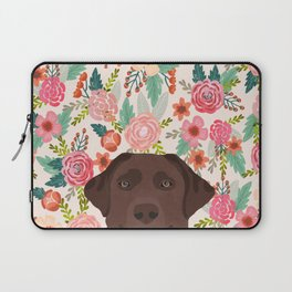 Chocolate Lab floral dog head cute labrador retriever must have pure breed dog gifts Laptop Sleeve