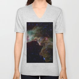 Elephant Trunk Nebula Stellar Nursery Deep Space Telescopic Photograph Unisex V-Neck