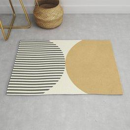 Semicircle Stripes - Gold Rug