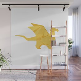 Origami Golden Dragon Wall Mural