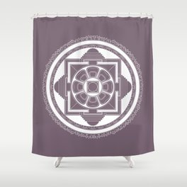 Kalachakra Mandala Shower Curtain