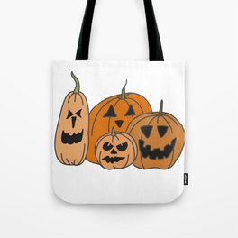 Pumpkin Family Tote Bag