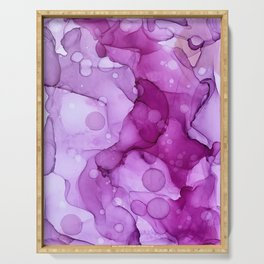 Abstract alcohol ink art painting Serving Tray