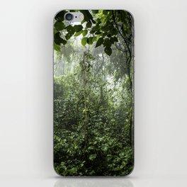 Dark Green Vines Hanging in the Misty Rainforest of Nicaragua at the Chocoyero-El Brujo Nature Reser iPhone Skin