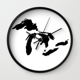 Map of the Great Lakes Wall Clock