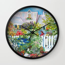 Summer in Kennebunkport Wall Clock