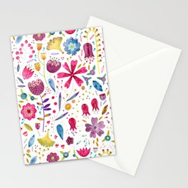 Autumn Hedgerow Flowers Stationery Cards
