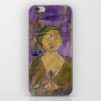 queer iPhone & iPod Skins featuring Queer Buddha ~ Invocation  by Jamila