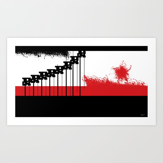 AEND ?! ( the world we live in) Art Print
