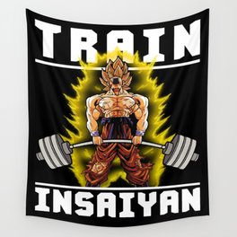 TRAIN INSAIYAN (Goku Deadlift) Wall Tapestry