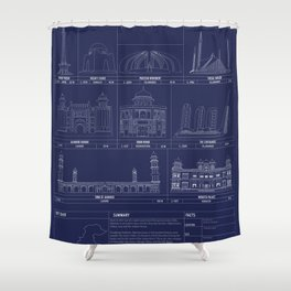 The Architecture of Pakistan Shower Curtain