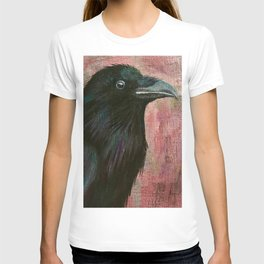Raven rising against a pink sunset T-shirt