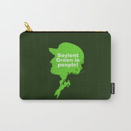 Soylent Green –  Silhouette Quote Carry-All Pouch