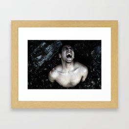 Birthing Leo Framed Art Print