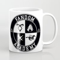 fandom Mugs featuring Fandom Academy by Thg Fashion