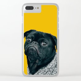 Pug Is Life Clear iPhone Case