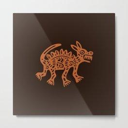 Aztec Animal Metal Print