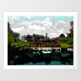 Portland Chinese Garden Art Print