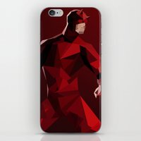 daredevil iPhone & iPod Skins featuring Daredevil by tophatmonster