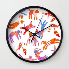 Oh Cats in Hats, it's Christmas! Wall Clock