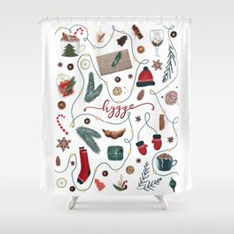 Hygge Christmas Collection Shower Curtain