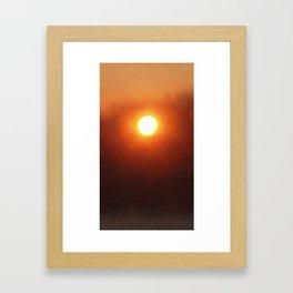 Sun Bath Framed Art Print
