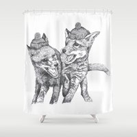 et Shower Curtains featuring Pierre et Jacques by Polkip
